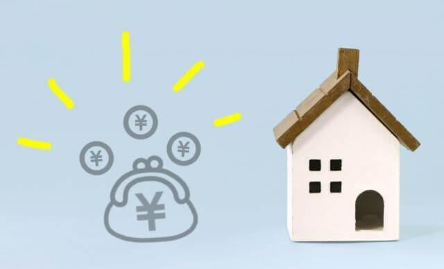 お財布と家の模型