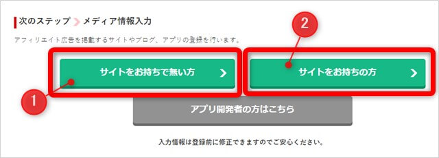 A8ネットの仮登録画面
