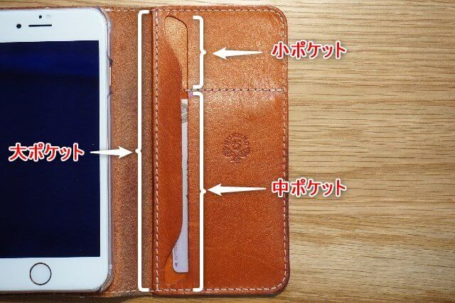 HUKURO手帳型スマホケースのポケット