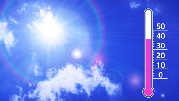夏の高温、熱中症