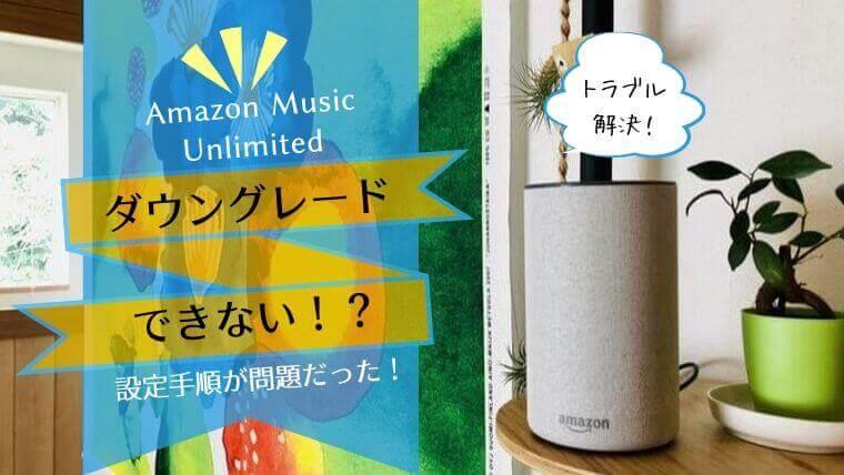 Amazon Music Unlimited Echoプランへの変更方法