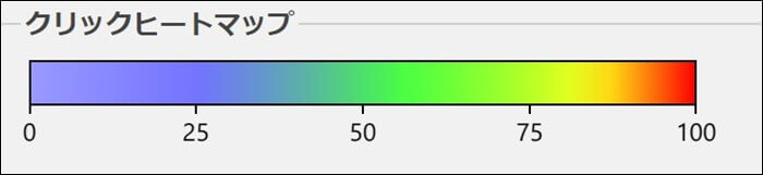 Aurora Heatmapのクリックヒートマップ