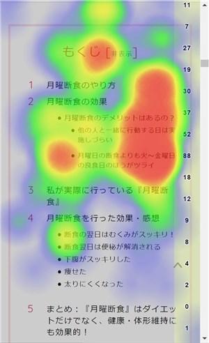 Aurora Heatmapモバイル分析画面