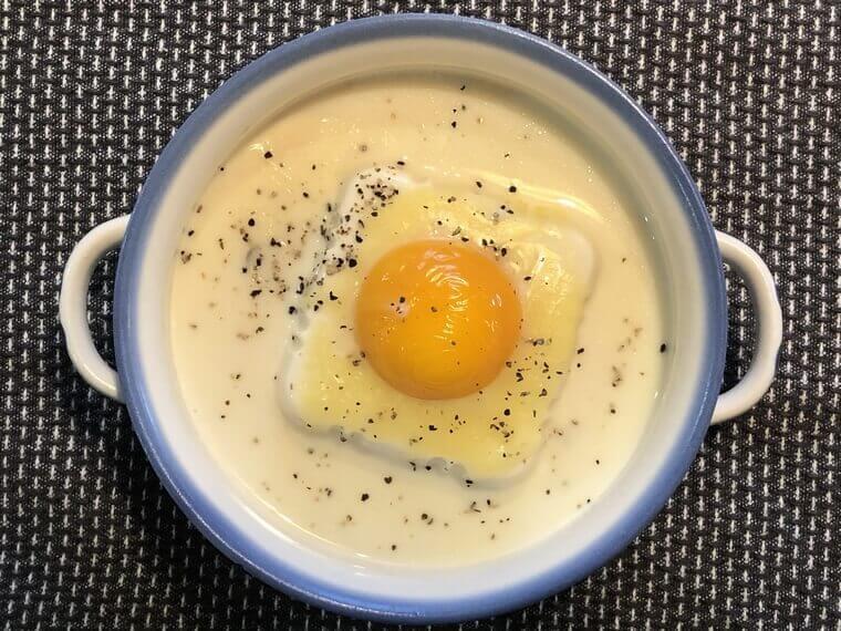 月曜断食レシピ:和風カルボナーラ豆腐