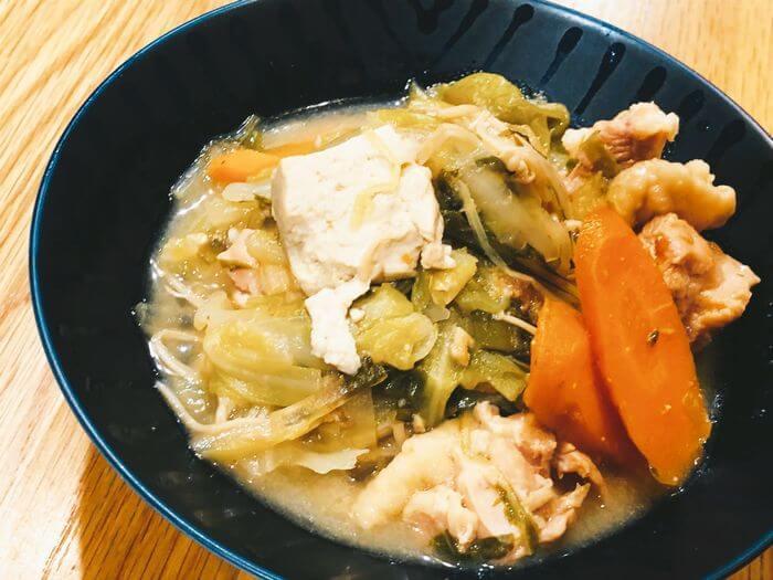 焦がし鮪のおかず味噌で鍋の残り物アレンジ
